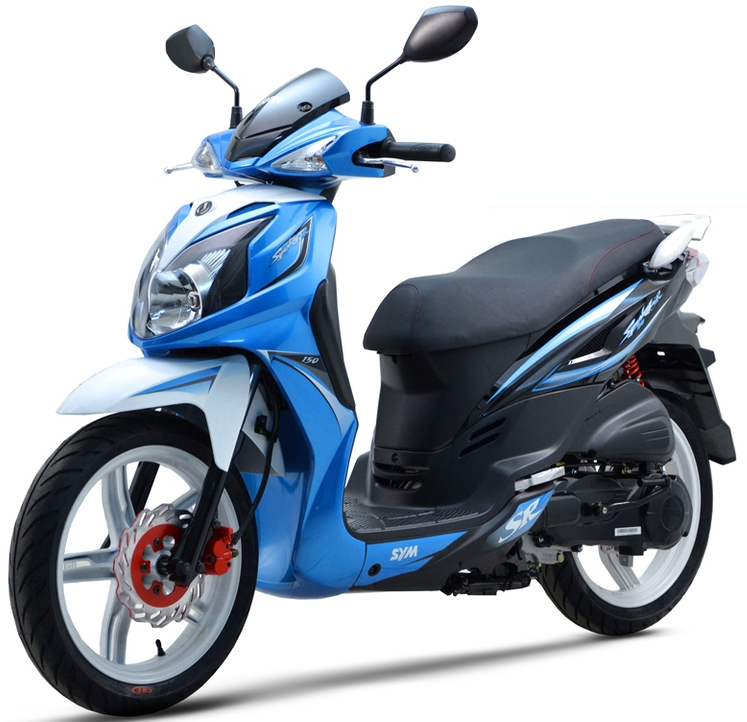 sym jet4r 50cc blue moto steki. Black Bedroom Furniture Sets. Home Design Ideas